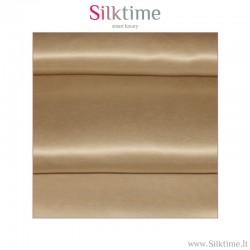 Fabric, silk charmeuse, taupe
