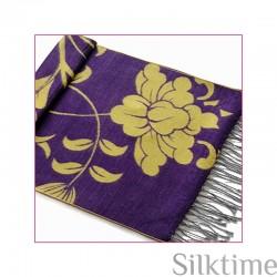 Silk velour shawl