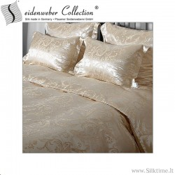 Silk jacquard duvet covers EYLA, tussah silk