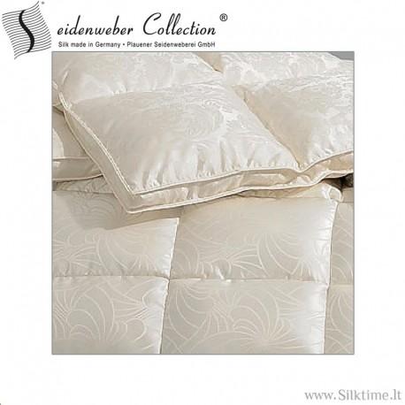 Žieminė Sibiro žąsų pūkų antklodė, šilko impilas
