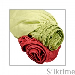Fitted sheets from habutai silk