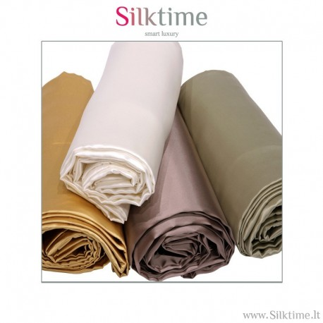 Flat sheets from charmeuse silk