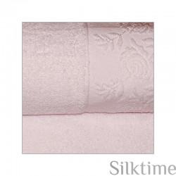 """Полотенца из хлопка """"Roses"""", розовый"""