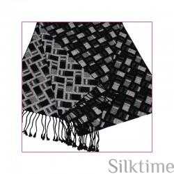 Шелковый велюровый шарф