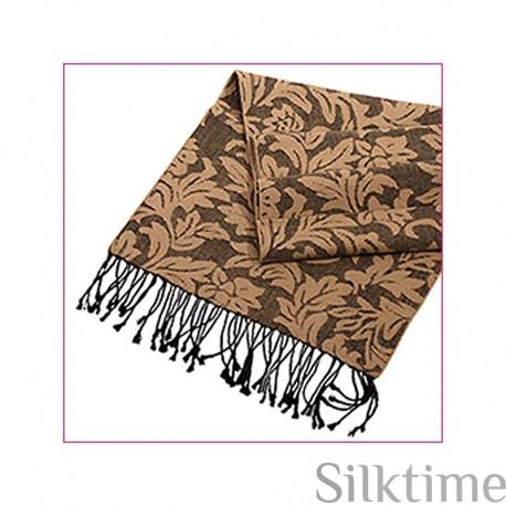 Silk dobby weave shawl