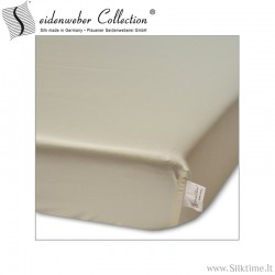 Natural silk fitted sheets HELIOS nature
