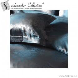 Silk jacquard duvet cover ROMANO orient blue