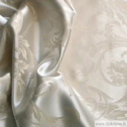 Ткань, жаккардовый Tussah шелк, тяжелый, natural