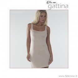 Silk knitted chemise PURE, sleeveless