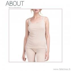 Мягкие рубашки для женщин из шерсти мериноса и шелка, без рукавов