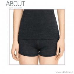 Мягкие шорты для женщин из шерсти мериноса и шелка