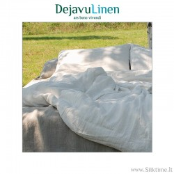 White softened linen bedding set
