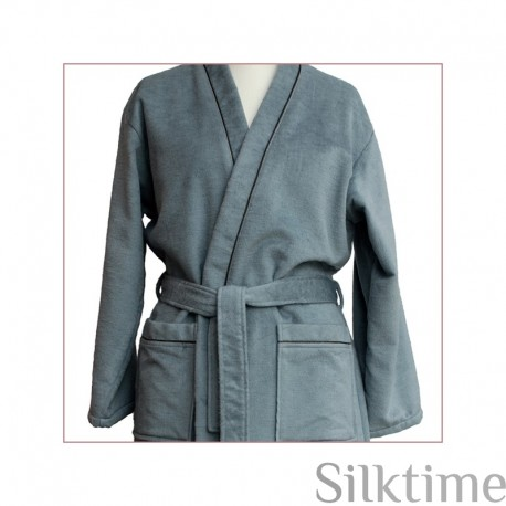 Fleece silk bathrobes