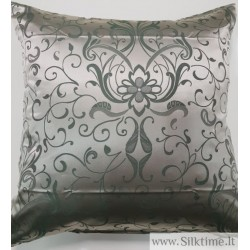 Jacquard silk pillow case Camille