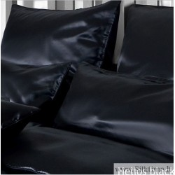Silk pillow cases HELIOS black with zipper