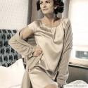 Silk nightgown SEDUZIONE DI SETA with short sleeves