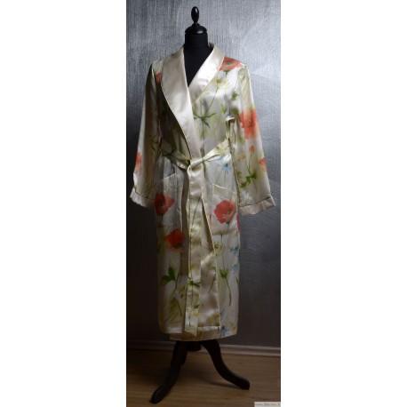 SWC Silk Jacquard robe for women
