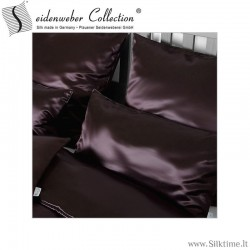 Silk pillow cases HELIOS chocolate