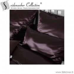 Šilko satino užvalkaliukai pagalvėms Helios chocolate