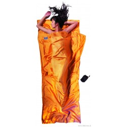 COCOON silk sleeping bag liner TravelSheet sunset