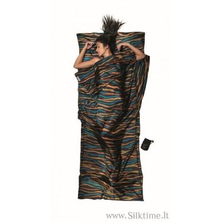 COCOON silk sleep sack TravelSheet with print