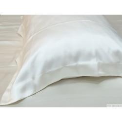 Oksfordo stiliaus balti natūralaus šilko užvalkalai pagalvėms