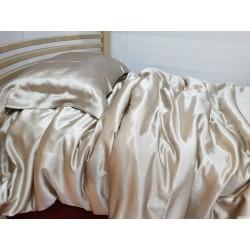 Комплект постельного белья из натурального шелка, пепельно-розовый
