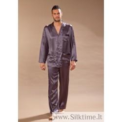 Длинная шелковая пижама для мужчин