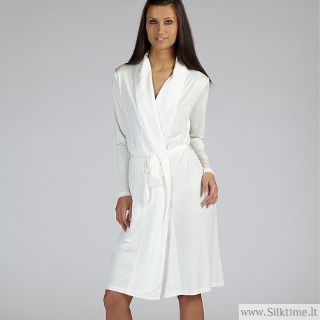 Silk robe MOYENNE, knitted