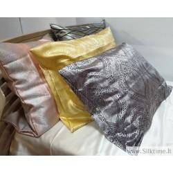 Natūralaus šilko užvalkalai pagalvei, su užtrauktuku, 50x70