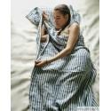 Компактный льняной спальный мешок, смягченный, в полоску синего цвета