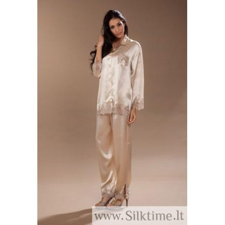 Silk pajama with lace CRISTY