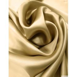 Прочная  шелковая ткань шармез шампанистого цвета, 22 мм