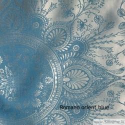 Silk jacquard, heavy fabric, orient blue