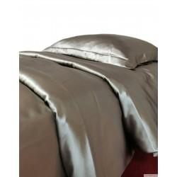 Комплект постельного белья из натурального шелка коричневого цвета