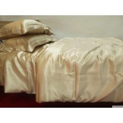 Постельное белье из натурального шелка, цвет  шампанистый, 22 мм
