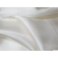 Fabric, silk charmeuse, white