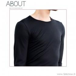 Švelnūs ir šilti Merino vilnos marškinėliai vyrams, ilgomis rankovėmis