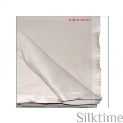 Silk fleece blankets, white